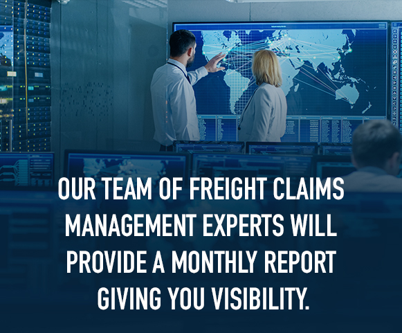 we provide a freight claims monthly report