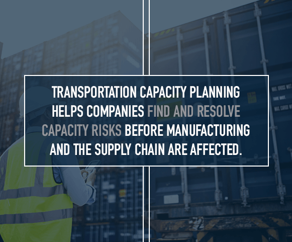 Find and resolve capacity risks before manufacturing and the supply chain are affected
